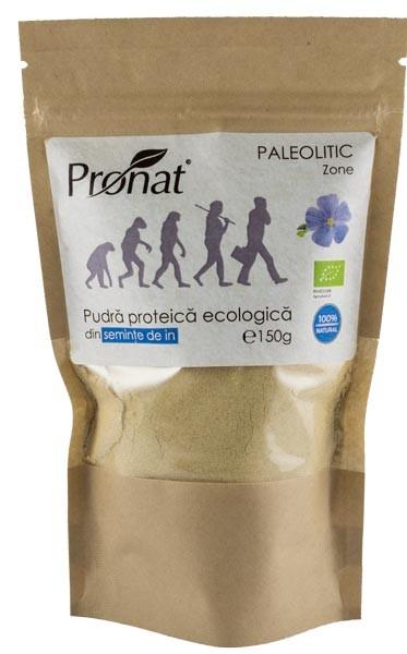 Pudra proteica bio din seminte de in, 150g [0]