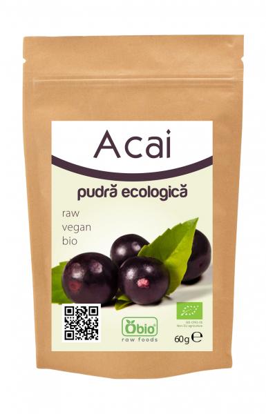 Pulbere organica de acai 60g - uscata prin inghetare (freeze dried) [0]