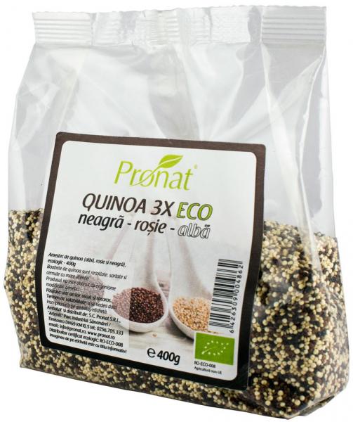 QUINOA 3X - amestec BIO de quinoa (neagra, rosie si alba), 400g [0]