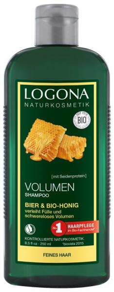 Sampon bio pentru volum cu bere si miere, 250 ml Logona 0