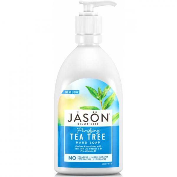 Sapun lichid anti-bacterian, cu Tea Tree, pentru fata si maini, 473 ml. 0