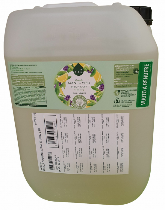 Sapun lichid ecologic cu lavanda si Vitamina E, vrac, 10 L Biolu [0]
