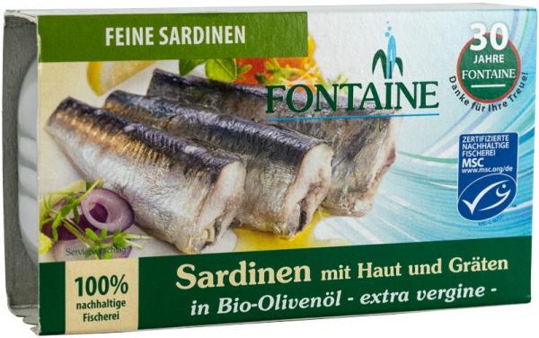 Sardine in ulei de masline extravirgin,120g FONTAINE 0