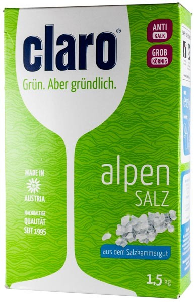 Sare dedurizanta alpina, 1,5 Kg Claro 0