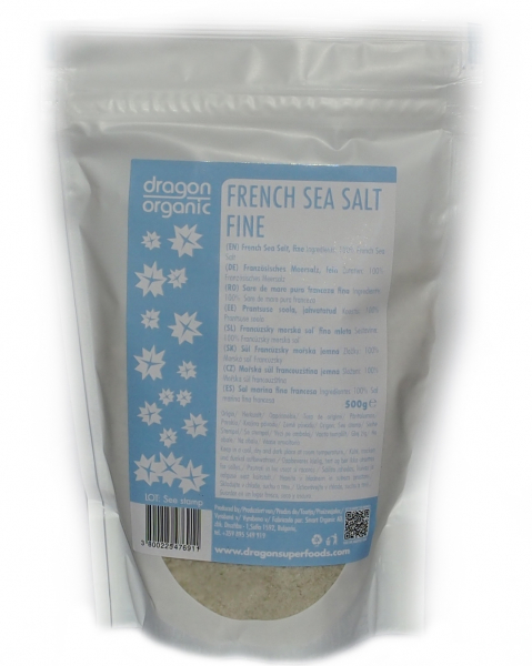 Sare franceza pura de mare (sare celtica) fina 500g 0