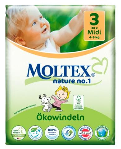 Scutece ECO pentru bebelusi (4-9kg), nr. 3, pachet 34 buc 0