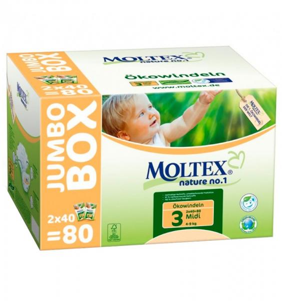 Scutece ECO pentru bebelusi (4-9kg), nr. 3, pachet Jumbo 80 buc 0