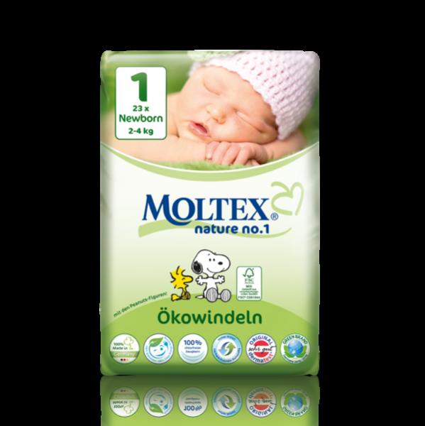 Scutece ECO pentru nou nascuti (2-4kg) nr. 1, pachet 23 buc 0