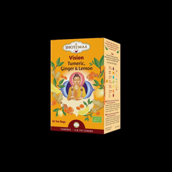 Ceai Shotimaa Chakras - Vision - turmeric, ghimbir si lamaie bio 16dz [0]