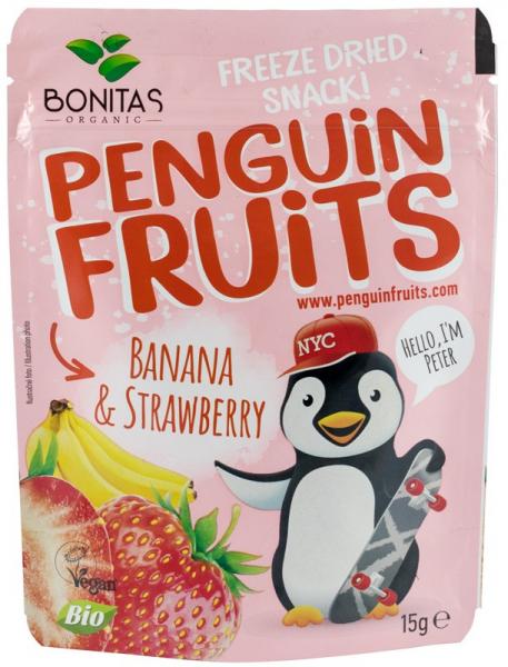 Snack bio de banane si cpasuni uscate si congelate, 15G - BONITAS [0]