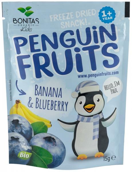 Snack bio de banane si coacaze negre uscate si congelate, 15G - BONITAS [0]
