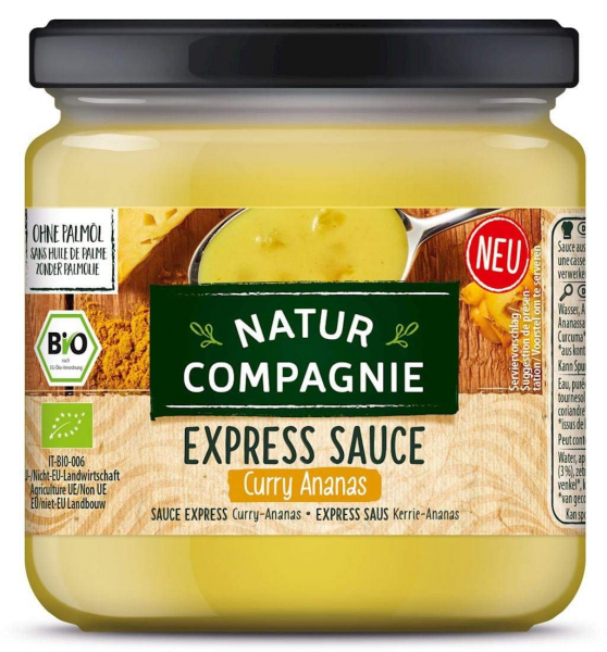 Sos asiatic BIO de curry si ananas, Express Sauce, 325 ml Natur Compagnie 0