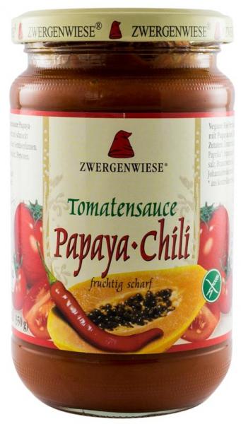 Sos BIO de rosii cu papaya-chili, 340 g ZWERGENWIESE 0