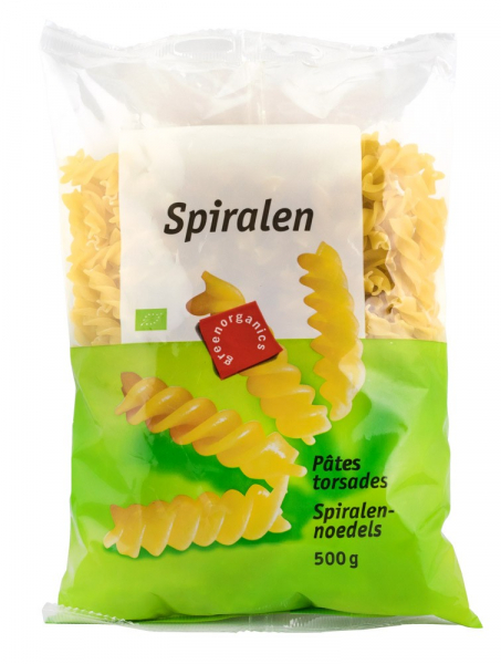 Spirale BIO din grau dur, 500 g GREEN ORGANICS 0