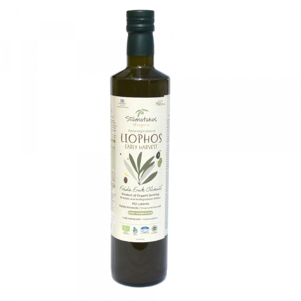 Ulei de masline extravirgin Liophos Early Harvest bio 750ml 0