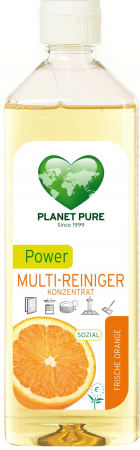 Detergent bio universal concentrat cu ulei de portocale Power Multi-Cleaner 510ml Planet Pure0