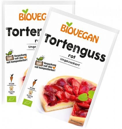 Glazura bio de gelatina rosie, 2X7G BIOVEGAN1