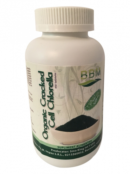 Organic Cracked Cell Chlorella - 450 Tablete 0