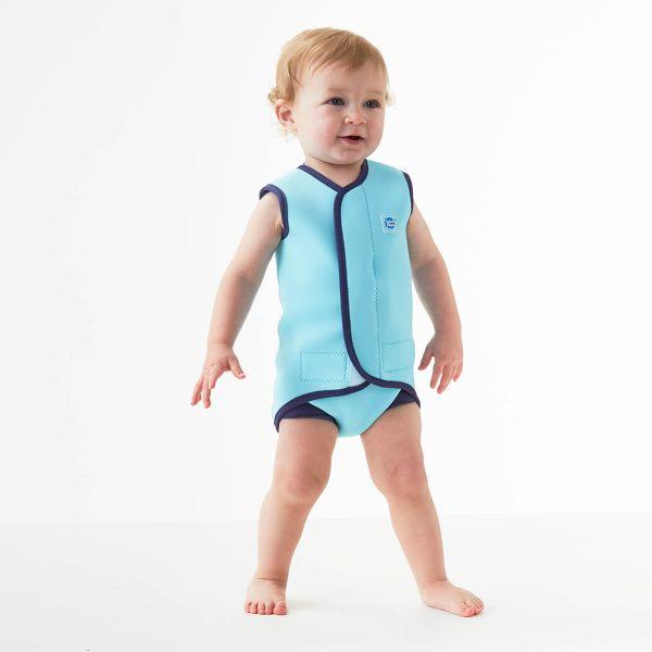 Costum neopren cu velcro bebeluşi - Baby Wrap™ Albastru Cobalt 3