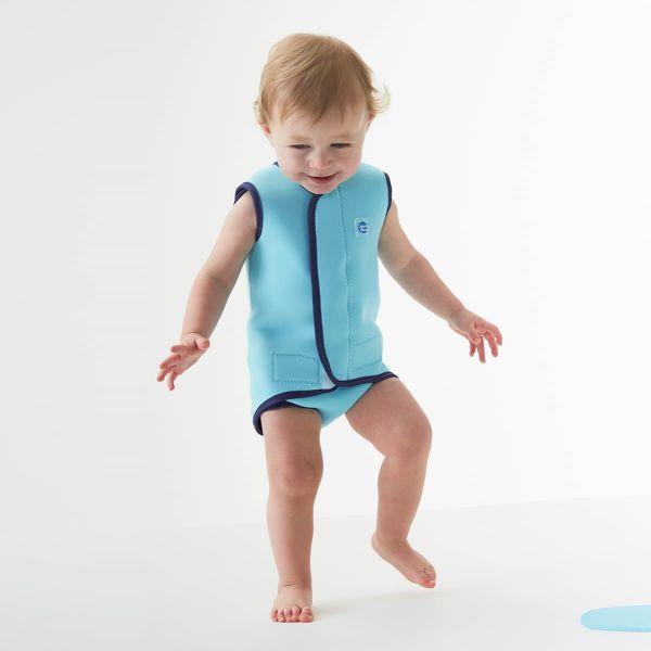 Costum neopren cu velcro bebeluşi - Baby Wrap™ Albastru Cobalt 2