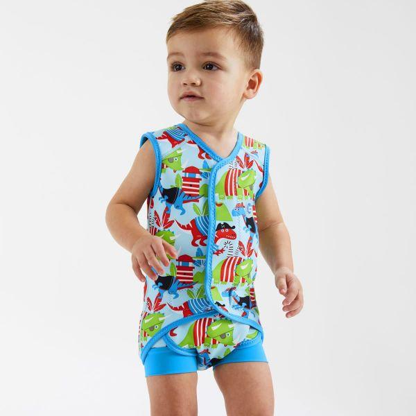 Costum neopren cu velcro bebeluşi - Baby Wrap™ Pirații Dino 2