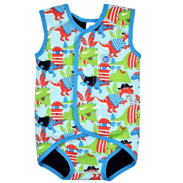 Costum neopren cu velcro bebeluşi - Baby Wrap™ Pirații Dino 0