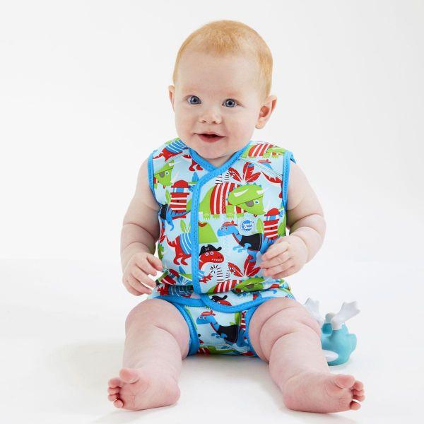 Costum neopren cu velcro bebeluşi - Baby Wrap™ Pirații Dino 3