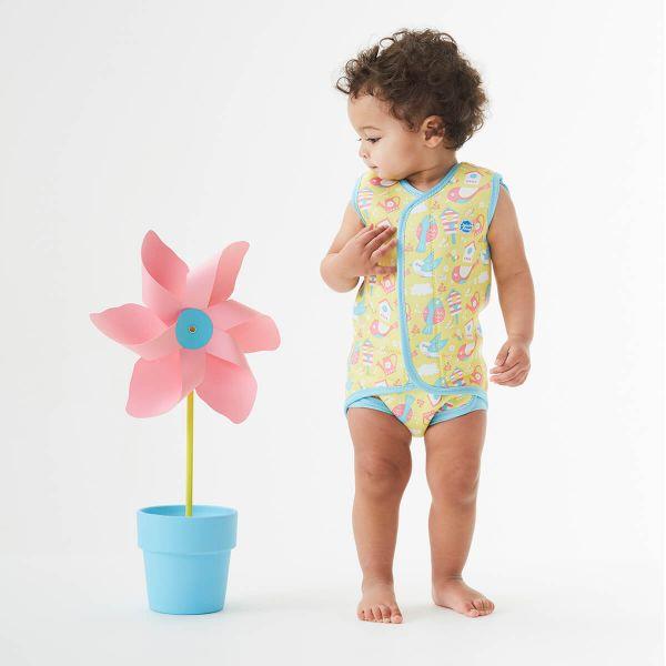 Costum neopren cu velcro bebeluşi - Baby Wrap™ Păsări de Grădină 3