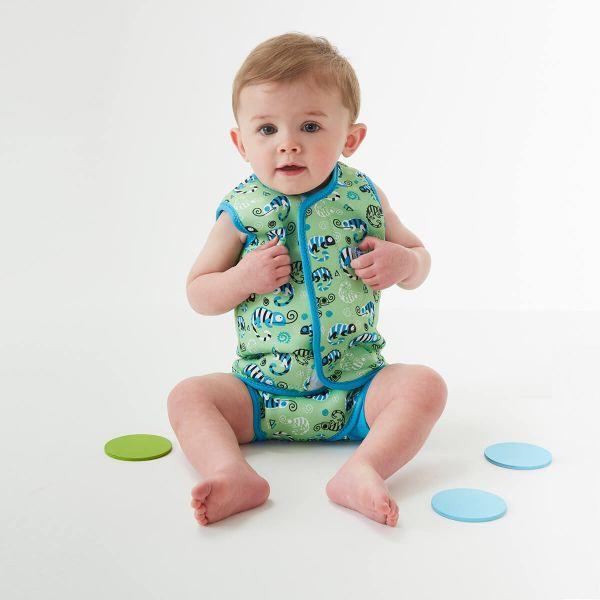 Costum neopren cu velcro bebeluşi - Baby Wrap™ Gegoşii Verzi 2
