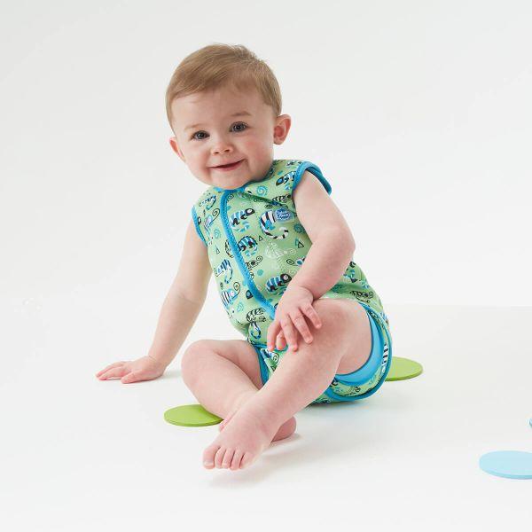 Costum neopren cu velcro bebeluşi - Baby Wrap™ Gegoşii Verzi 3