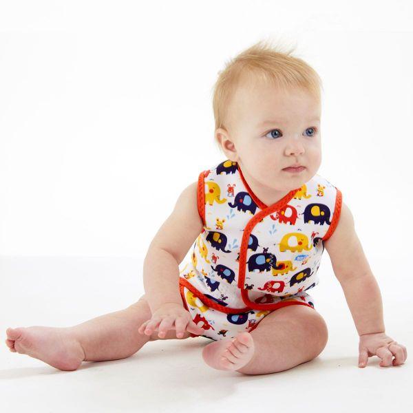 Costum neopren cu velcro bebeluşi - Baby Wrap™ Micii Elefanți 3