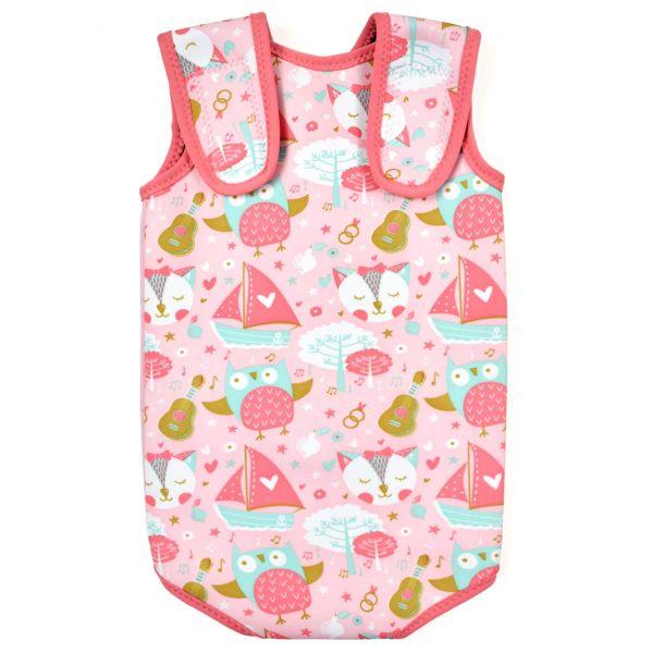 Costum neopren cu velcro bebeluşi - Baby Wrap™ Bufnițe şi Pisicuțe 1