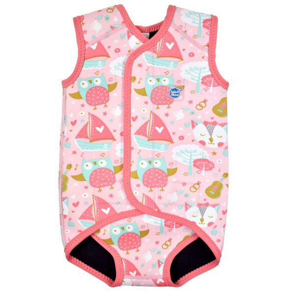 Costum neopren cu velcro bebeluşi - Baby Wrap™ Bufnițe şi Pisicuțe 0