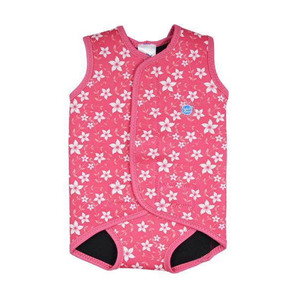 Costum neopren cu velcro bebeluşi - Baby Wrap™ Flori Rozalii 0