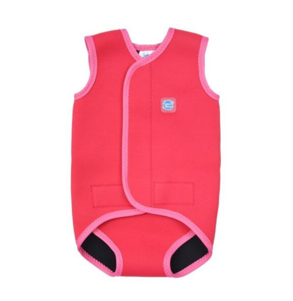Costum neopren cu velcro bebeluşi - Baby Wrap™ Roz Geraniu 0