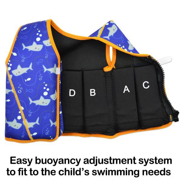 Vestă înot 8 plutitoare copii - Go Splash Jacket Rechinii Simpatici 3