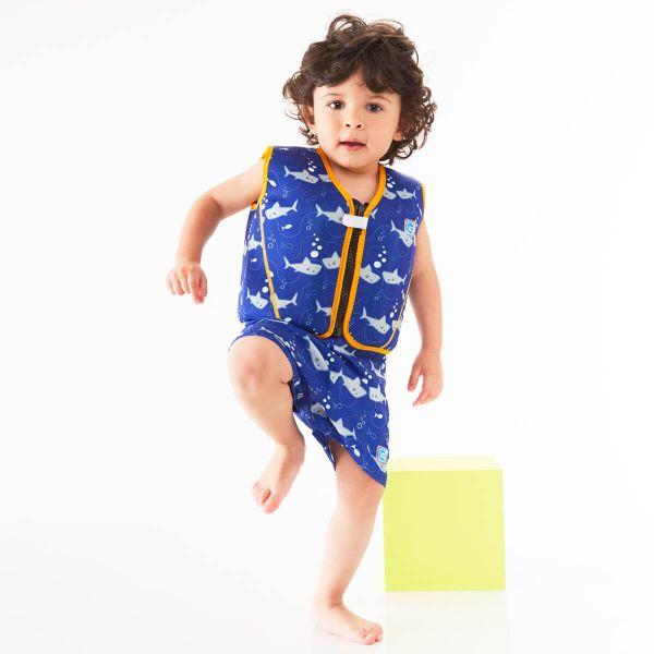 Vestă înot 8 plutitoare copii - Go Splash Jacket Rechinii Simpatici 2