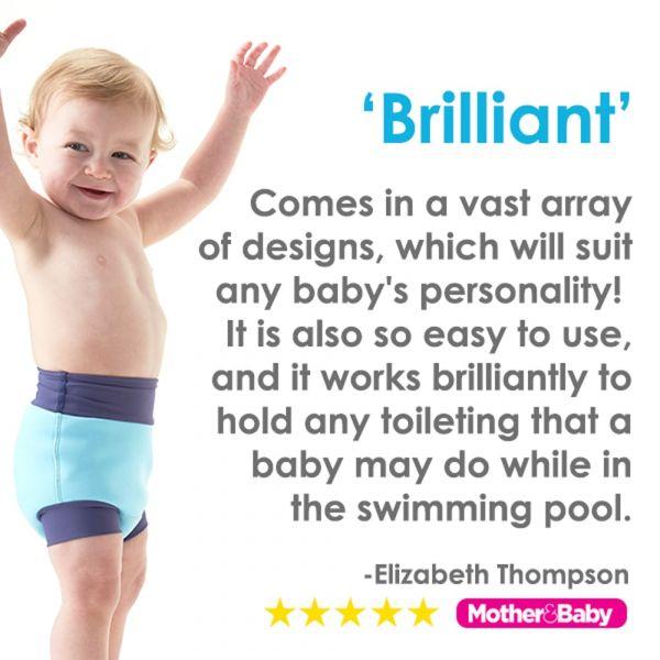 Slip înot/scutec de apă bebeluşi - Happy Nappy™ Albastru Cobalt 4