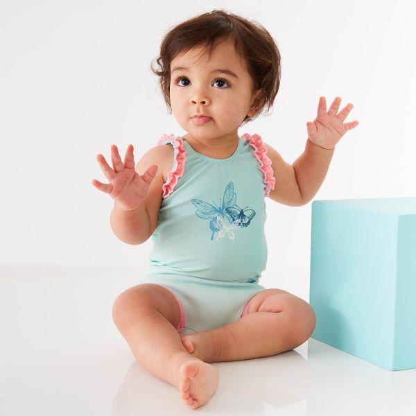 Costum înot/scutec de apă bebeluşi - Happy Nappy™ Libelule 1