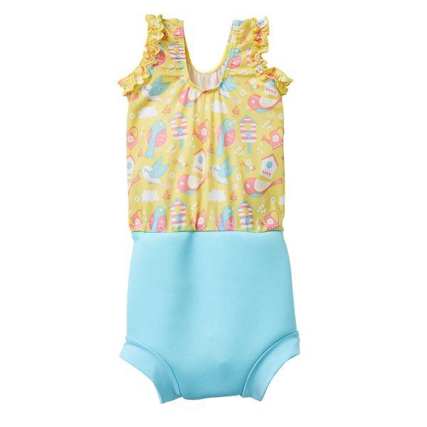 Costum înot/scutec de apă bebeluşi - Happy Nappy™ Păsări de Grădină 1