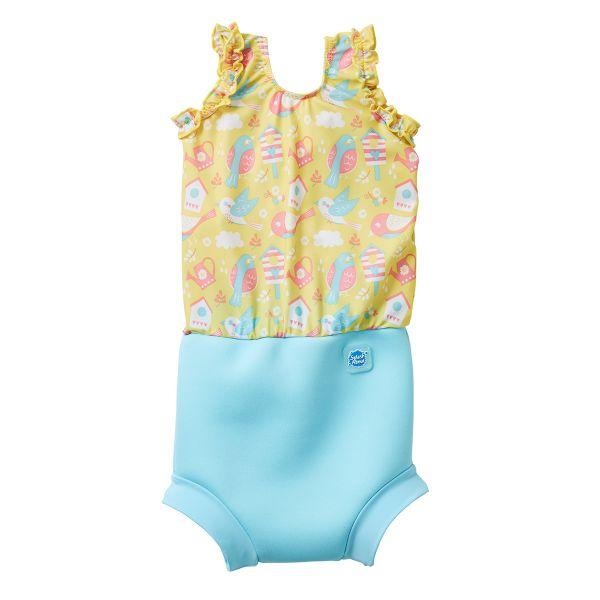 Costum înot/scutec de apă bebeluşi - Happy Nappy™ Păsări de Grădină 0