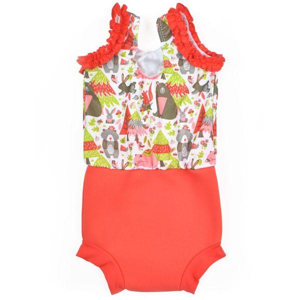 Costum înot/scutec de apă bebeluşi - Happy Nappy™ Din Pădure 1