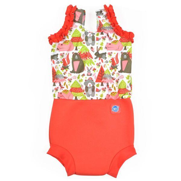 Costum înot/scutec de apă bebeluşi - Happy Nappy™ Din Pădure 0