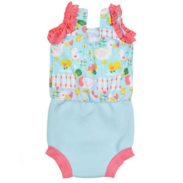 Costum înot/scutec de apă bebeluşi - Happy Nappy™ 5 Rațuşte [1]