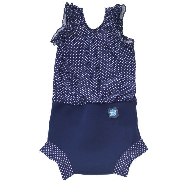 Costum înot/scutec de apă bebeluşi - Happy Nappy™ Buline Marine 0