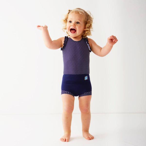 Costum înot/scutec de apă bebeluşi - Happy Nappy™ Buline Marine 1