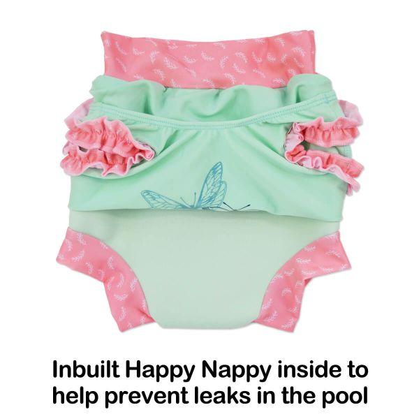 Costum înot/scutec de apă bebeluşi - Happy Nappy™ Buline Marine 2