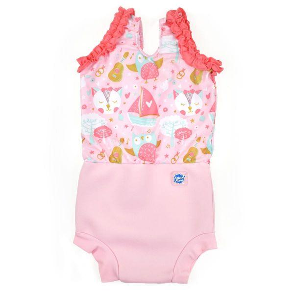 Costum înot/scutec de apă bebeluşi - Happy Nappy™ Bufnițe şi Pisicuțe 0