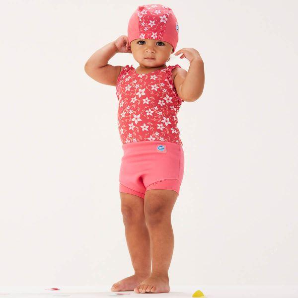 Costum înot/scutec de apă bebeluşi - Happy Nappy™ Flori Rozalii 2