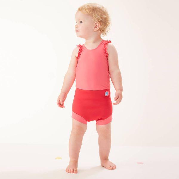 Costum înot/scutec de apă bebeluşi - Happy Nappy™ Roz Geraniu 2